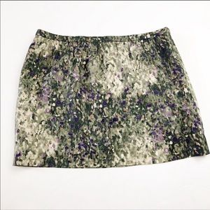 J. Crew Collection Watercolor Skirt